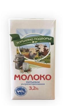 Молоко 3,2% Зорькино Подворье, 1 л., тетра-пак