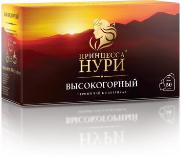 Чай Принцесса НУРИ черный Высокогорный 50 пакетиков