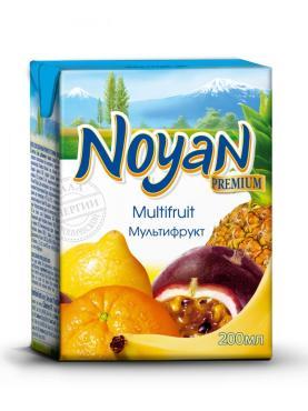 Нектар Premium Мультифрукт, Армения, с 3 лет, ДП, Noyan, 200 мл., тетра-пак