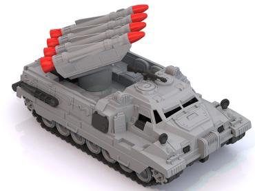 Ракетная установка Морпех серый, красный Нордпласт