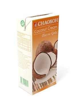 Кокосовые сливки 20-22% Chaokoh, 1 л., тетра-пак