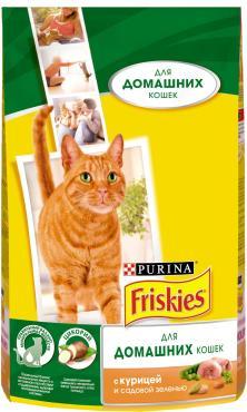 Корм сухой для кошек курица и садовая зелень Friskies 1.5 кг. Дой-пак