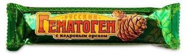 Гематоген с кедровый орехом, Фарм-Про, Русский, 40 гр., флоу-пак