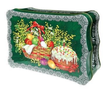 Чай Чю Хуа, черный листовой Ларец Светлая Пасха Мимоза, 150 гр., ж/б