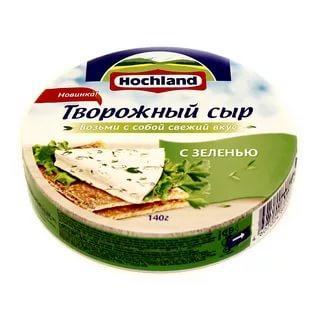 Сыр Hochland творожный с зеленью