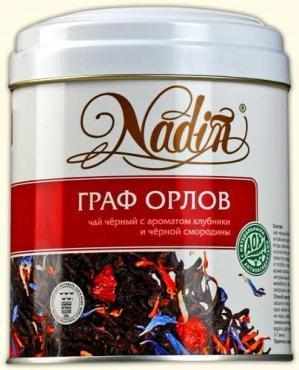 Чай Nadin Граф Орлов черный листовой 75 гр