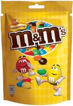 Драже с арахисом M&M's, пакет 130 гр.