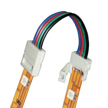 Коннектор 4 контакта IP20 для соединения светодиодных лент 5050 RGB между собой белый Uniel, 20 шт., 10 гр., пластиковый пакет