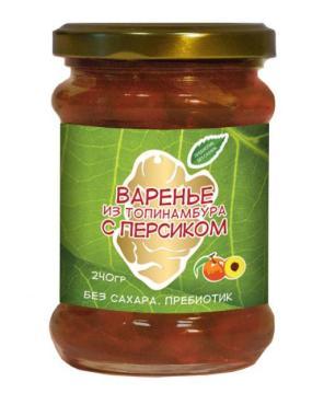 Варенье из клубней топинамбура с персиком, Купецкий дом Посадъ, 240 гр., стекло