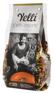 Суп-пюре из гороха с карри Yelli, 250 гр., пластиковый пакет