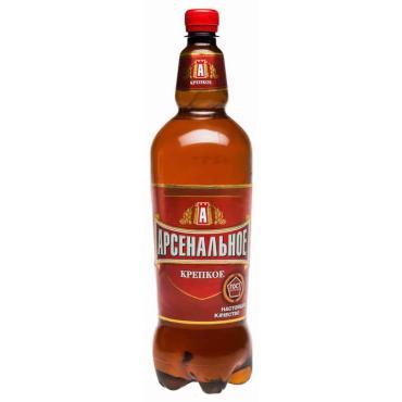 Пиво Арсенальное Крепкое светлое пастеризованное 7.0% ПЭТ 1.35 л