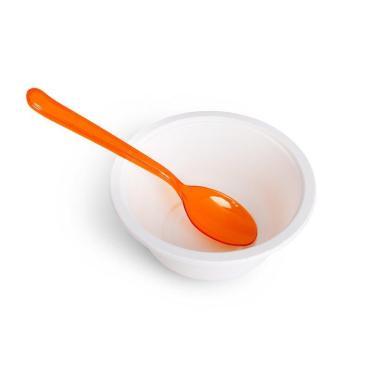 Ложка пластиковая ПРЕМИУМ 180 мм, оранжевая