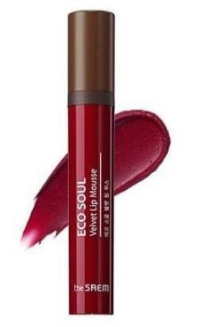 Мусс для губ The Saem Eco Soul Velvet Lip Mousse RD01 Red Motion