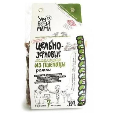 Макаронные изделия Умная Мама рожки из пшеницы , 350 гр., пластиковый пакет