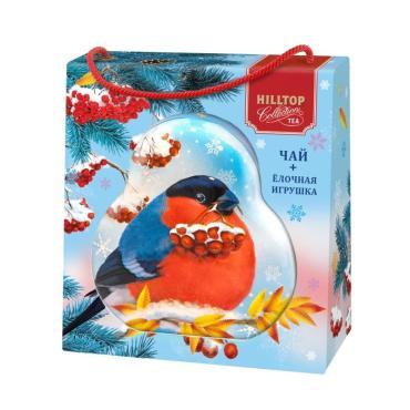 Чай черный Hilltop Ёлочная игрушка в футляре Снегирь