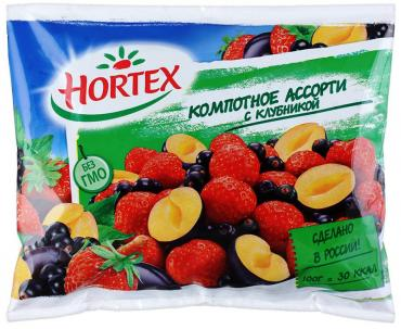 Компотное ассорти Hortex с клубникой Заморозка