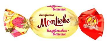 Конфеты Славянка MonLiebe со вкусом клубника-банан