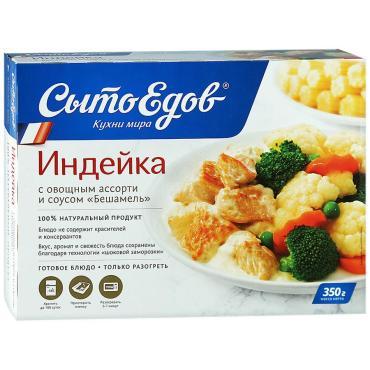 Индейка с овощным ассорти в соусе, Сытоедов