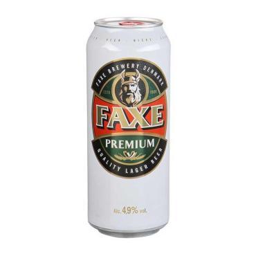 Пиво Faxe Premium светлое пастеризованное фильтрованное 4,9%