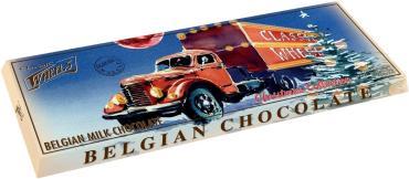 Молочный шоколад Xmas гигантская плитка, Belgian Choсolate, 400 гр., картон