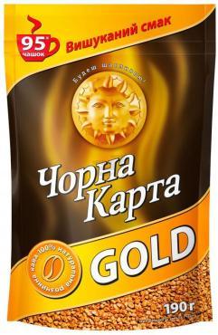 Кофе Черная Карта Gold растворимый