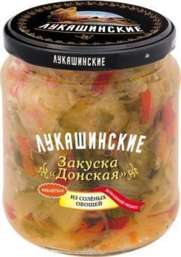 Консервы овощные Лукашинские Закуска Донская из соленых овощей