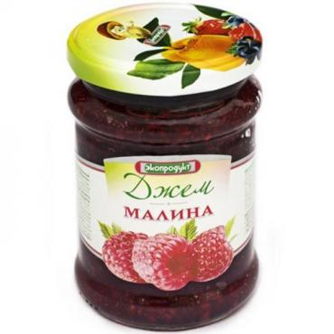 Джем малина, Экопродукт, 320 гр., Стекло