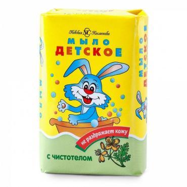 Туалетное мыло Невская косметика детское с экстрактом чистотела