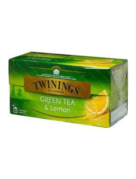 Чай Twinings зеленый с кусочками лимона в пакеиках