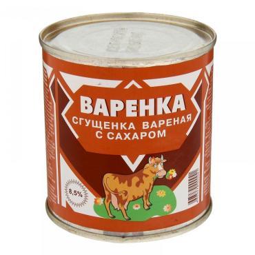 Сгущенное молоко Варенка вареная с сахаром 8,5%