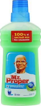 Чистящее средство Mr.Proper для полов и стен лайм и мята 500мл