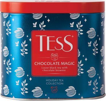 Чай Tess Chocolate Magic черный листовой со вкусом горького шоколада