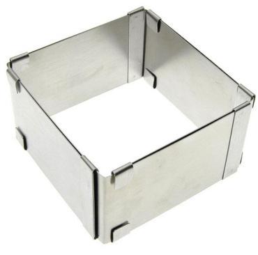 Форма для выпечки Мультидом квадрат регулируемая 9х9х5см