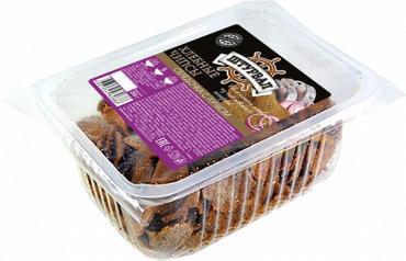 Гренки хлебные чипсы со вкусом селедочки с луком Штурвал, 250 гр., пластиковый контейнер
