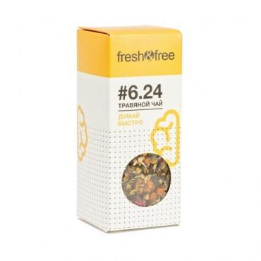 Чай листовой травяной Fresh&Free 6.24 Думай быстро, 75 гр., картонная коробка