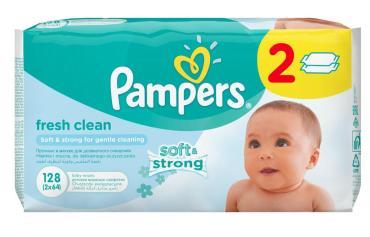 Салфетки Pampers Baby Fresh Clean детские влажные 128 шт.