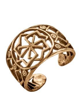 Кольцо, 9006, латунь, размер 20, Кудесы Молвинец, 15 гр., пластиковый пакет