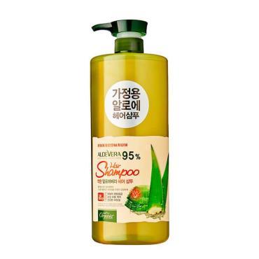 Шампунь для волос White Organia Aloe Vera 95% Hair Shampoo с 95% экстрактом калифорнийского алоэ вера