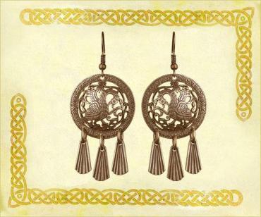 Серьги Кудесы, 2002 латунь, Размер 29*62