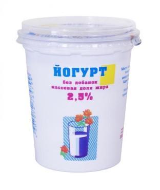 Йогурт без добавок 2,5% Ирмень, 380 гр., пластиковый стакан
