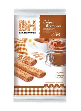 Блины с вареной сгущенкой Crepes Bretonnes, Baker House, 150 гр., флоу-пак
