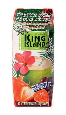 Кокосовая вода King Island c соками клубники винограда и граната