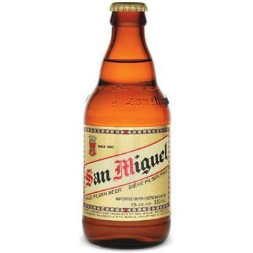 Пиво светлое фильтрованное 5 % San miguel pale pilsen, Филиппины, 330 мл., стекло