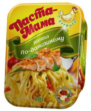 Лапша Паста-Мама быстрого приготовления курица по-домашнему