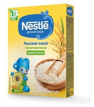 Каша безмолочная г/а рисовая, Nestlé Детская каша, 200 гр., картон