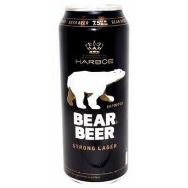 Пиво Bear Beer светлое пастеризованное фильтрованное 7,7%