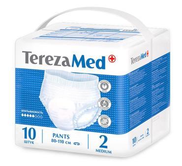 Трусы-подгузники для взрослых Tereza Med medium 2 80-110см, 10 шт