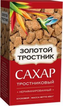 Сахар Мистраль Золотой тростник нерафинированный кусковой