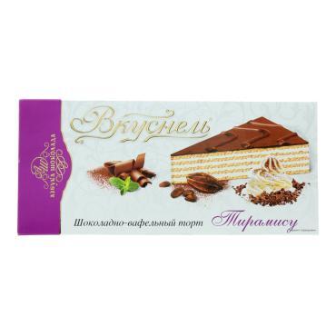 Торт Вкуснель Тирамису шоколадно-вафельный 200 гр.