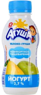 Йогурт питьевой АГУША Яблоко-груша 2,7% 200г